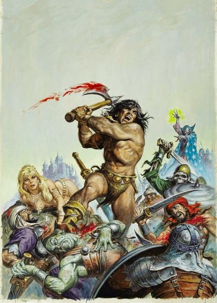 Earl Norem Savage Sword of Conan #16 Cover