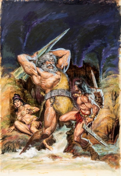 Earl Norem Savage Sword of Conan #28 Cover