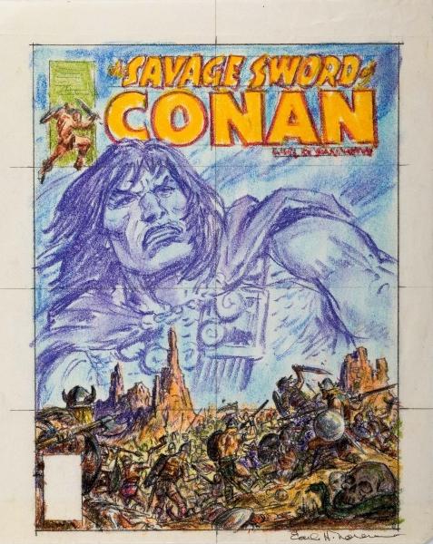 Earl Norem Savage Sword of Conan #36 Cover
