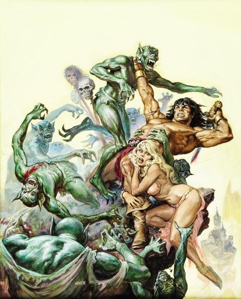 Earl Norem Savage Sword of Conan #38 Cover