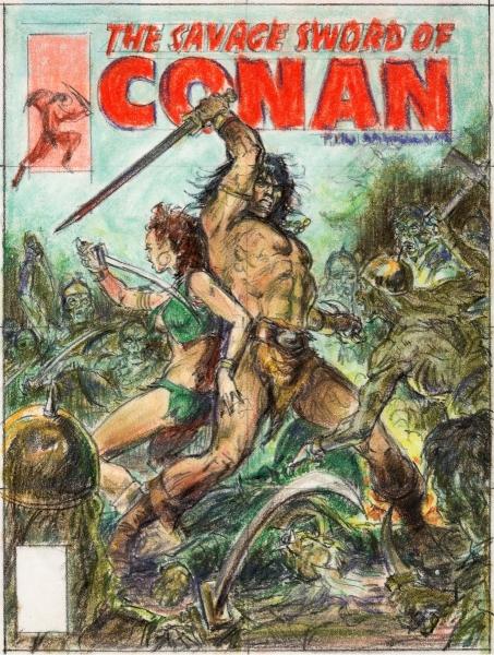 Earl Norem Savage Sword of Conan #55