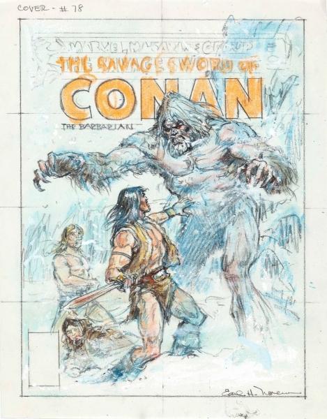 Earl Norem Savage Sword of Conan #78