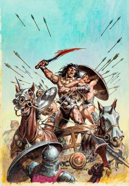 Earl Norem Savage Sword of Conan #90 Cover