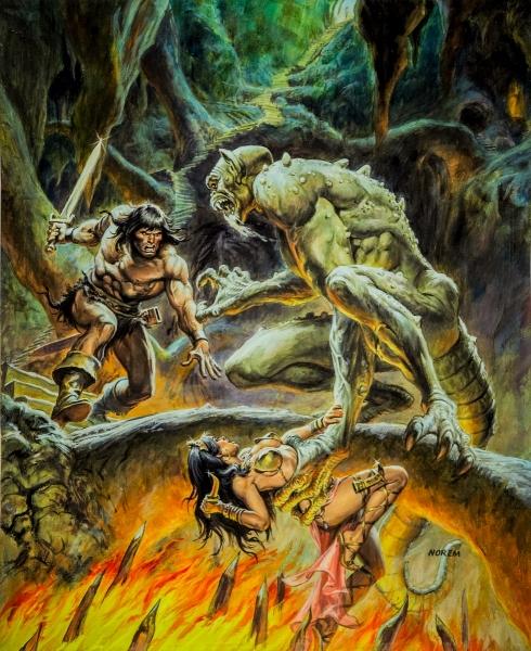 Earl Norem Savage Sword of Conan #86