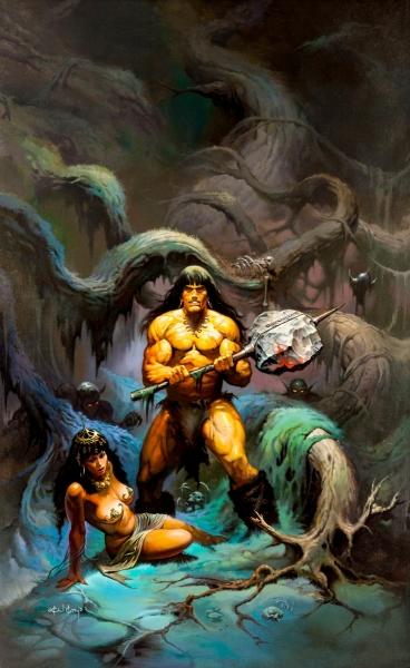 Conan with a stone axe