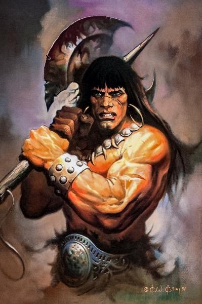 Conan with an axe