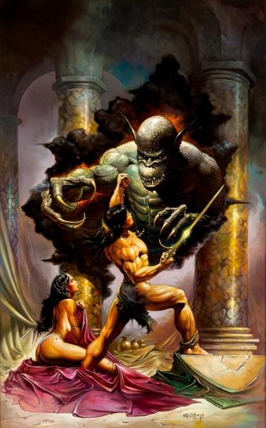 Ken Kelly - Conan fighting demon
